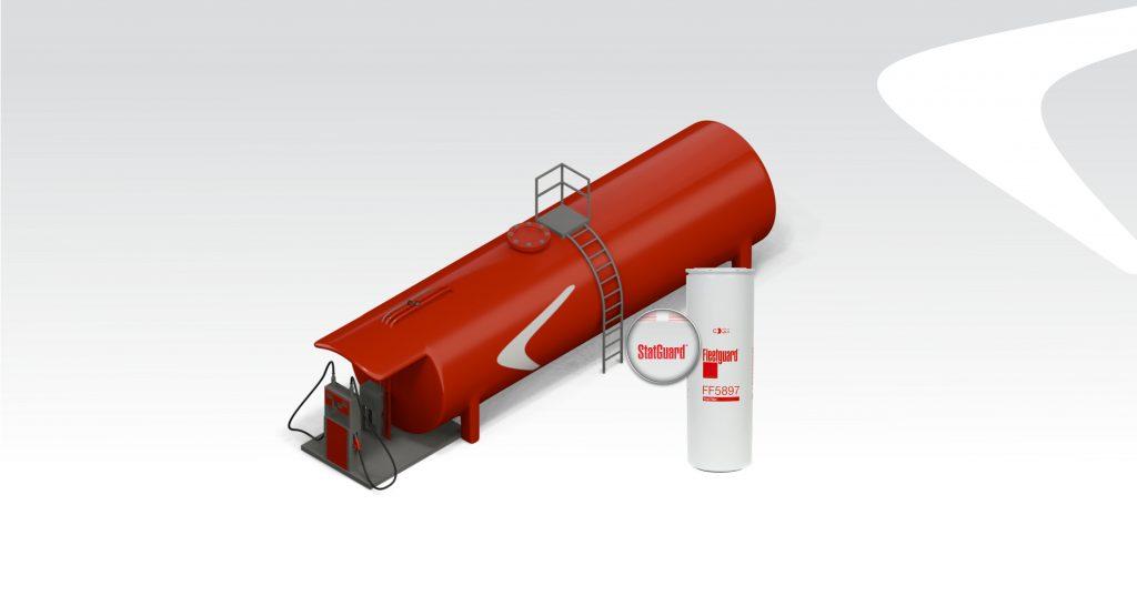 Dieselpolttoainesuodatin FF 5897 polttoaine- ja farmarisäiliöön